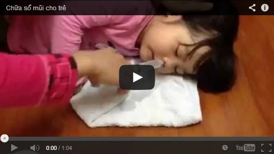Chữa sổ mũi cho trẻ
