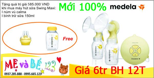 Máy hút sữa đôi Medela Swing Maxi giá chỉ 6tr BH 12 tháng, giao hàng TOÀN QUỐC